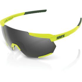 100% Racetrap Gafas, soft tact banana/black mirror